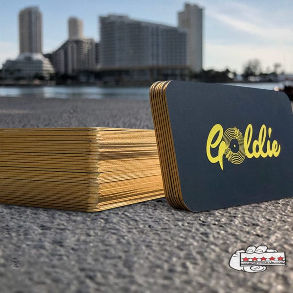 thick business cards with gold edge