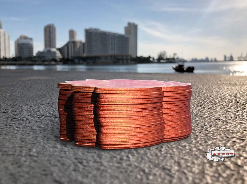 Metallic edges business cards in miami