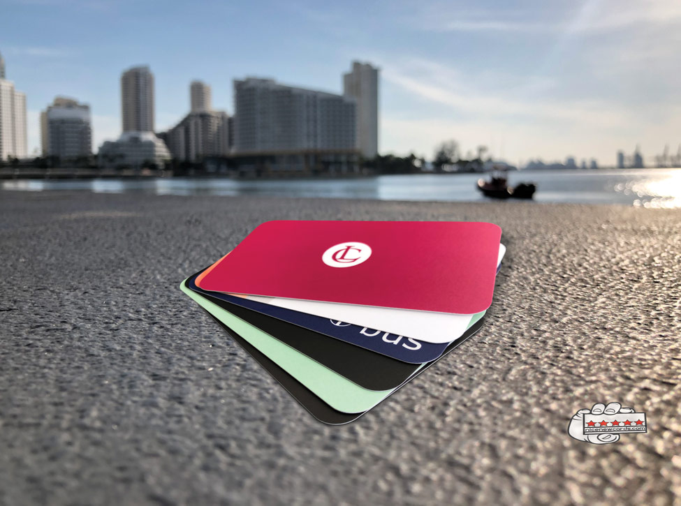 rounded edged business cards in miami