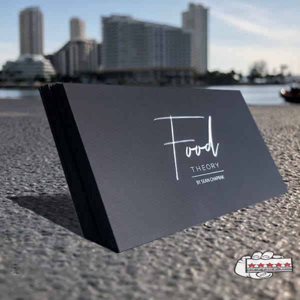 Suede Laminated Business Cards Miami