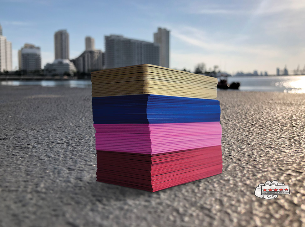 thick colored business cards in miami
