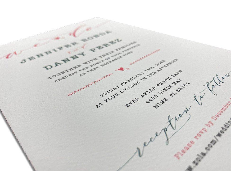 luxury printed invitations